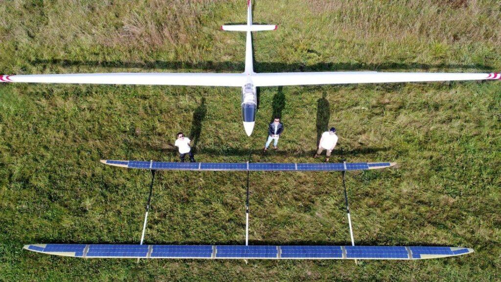 UAVOS ApusDuo HAPS UAV 14 metre prototype