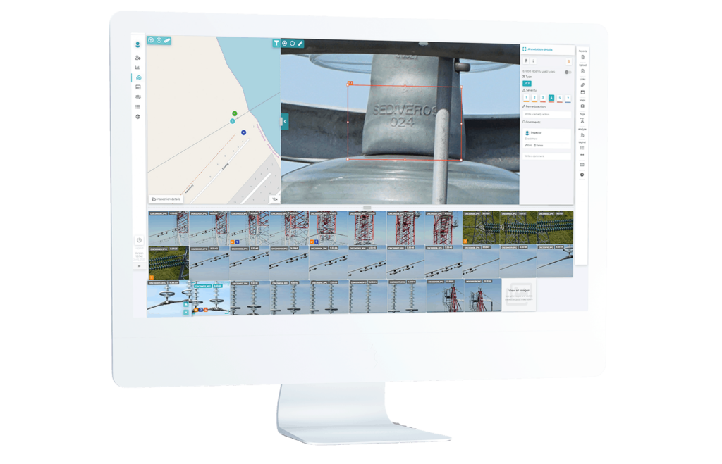 Drone Inspection Software for Processing, Storage and Analysis
