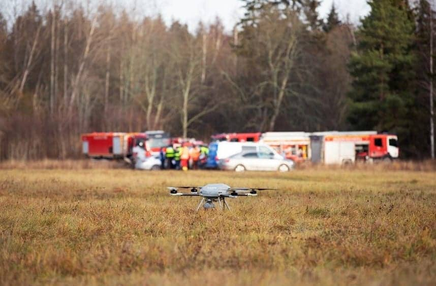 Threod UAV in search and rescue exercise