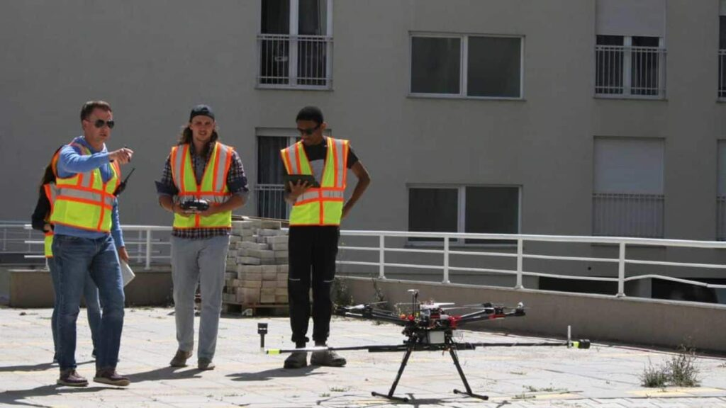 Drone flight in Kosovo with FT205 wind sensors