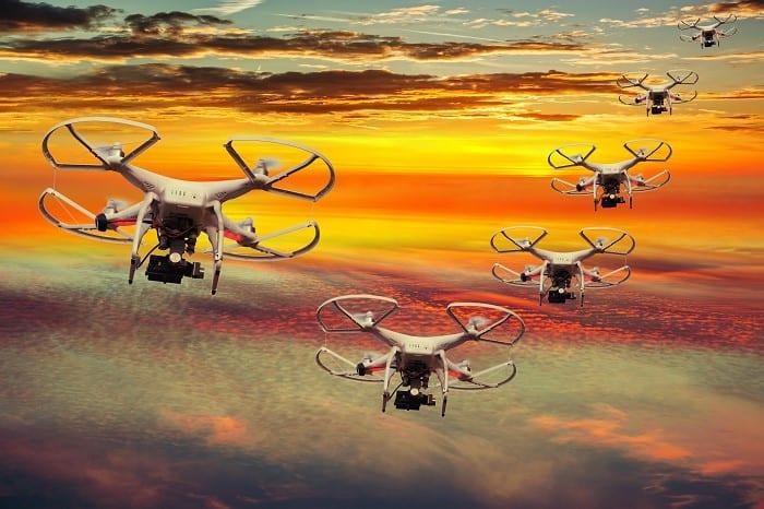 Drone swarming