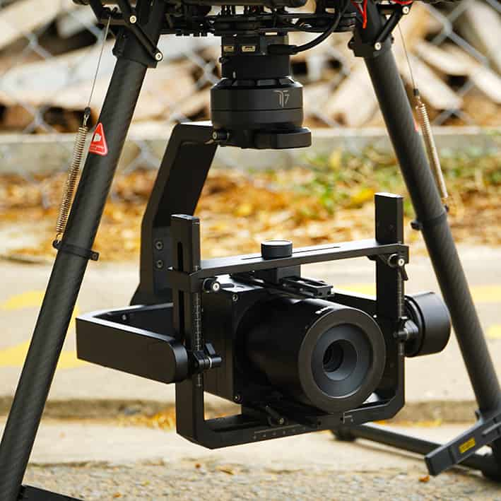 Multi-camera gimbal for industrial drones
