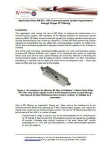 NuWaves Engineering RF filtering application note