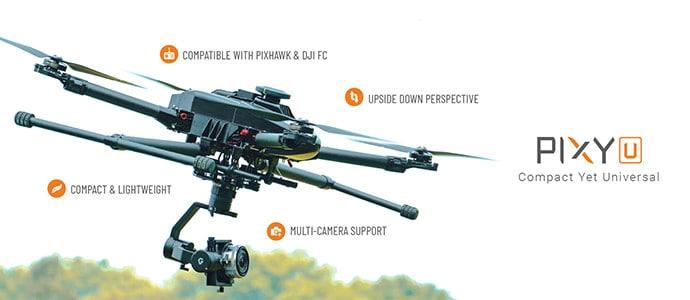 Pixy U Universal Drone Camera Gimbal banner