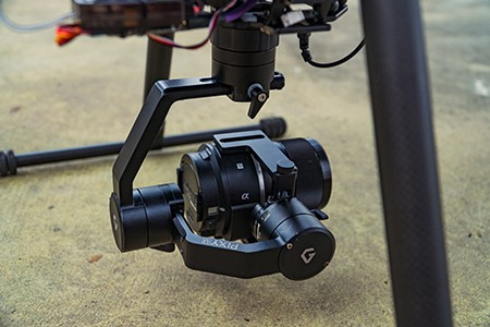 Pixy U gimbal stabilizer for drones