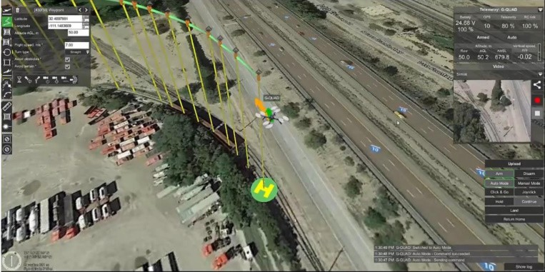 Simlat INTER drone simulation with UgCS