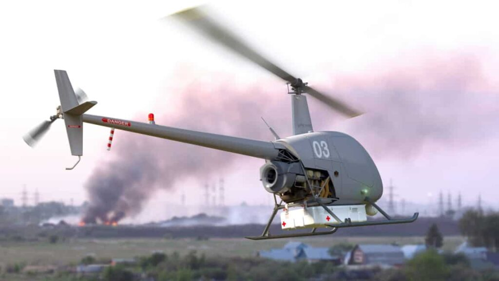 UAVOS R22 unmanned helicopter