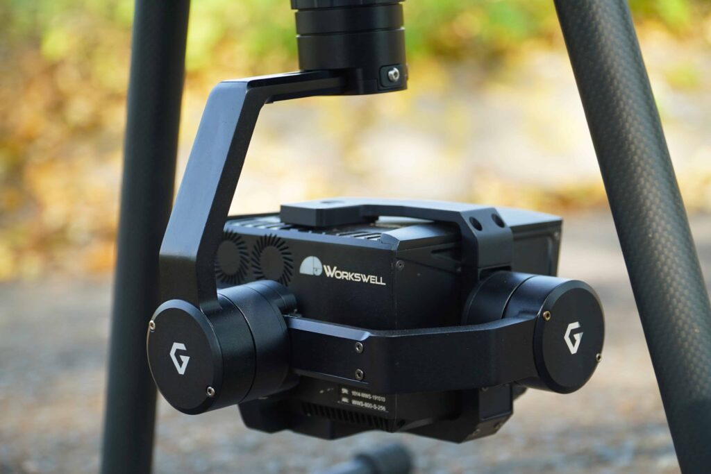 Wiris Security drone camera gimbal