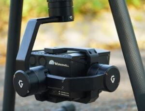Workswell WIRIS drone camera gimbal