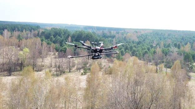Routescene LidarPod UAV at Chernobyl