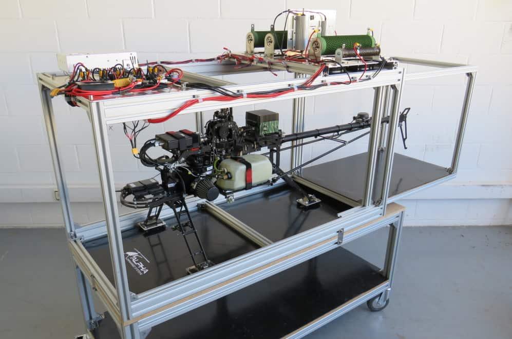 Alpha Unmanned Systems HALT helicopter test bench