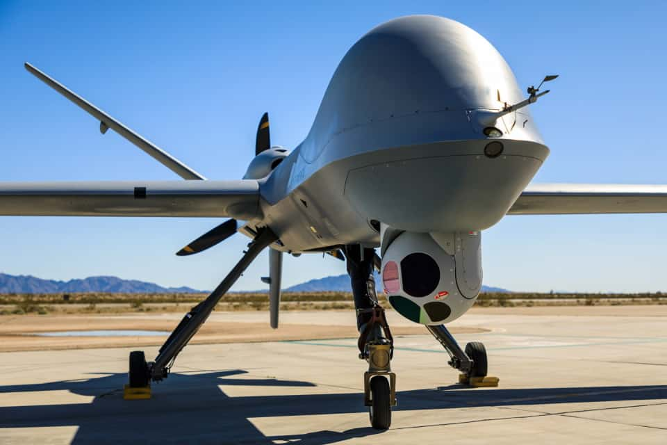 MQ-9 Predator UAS with EOIR targeting system