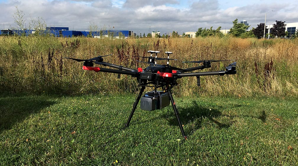 Compact LiDAR Mounted to Drone