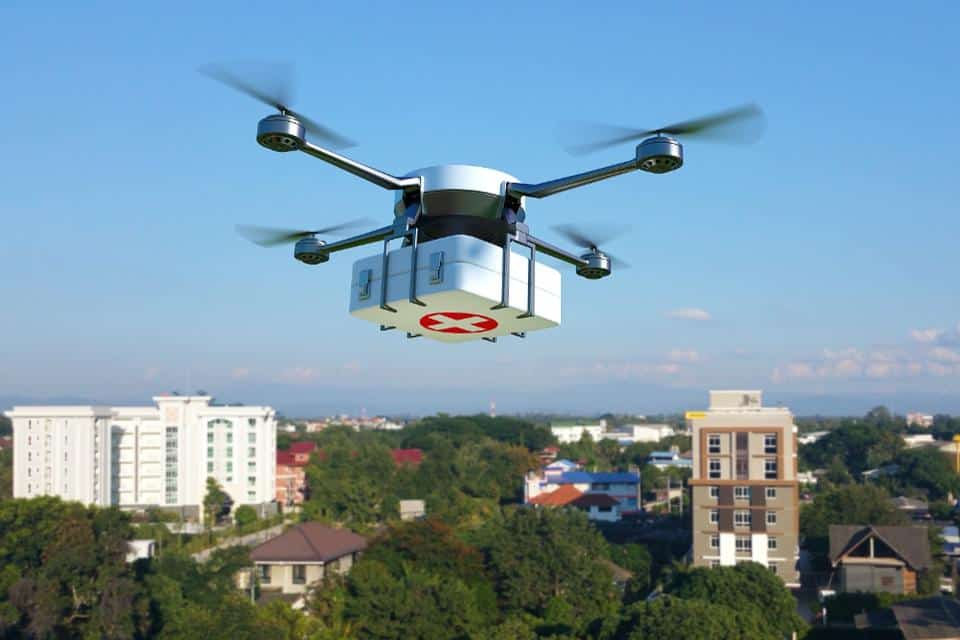 Drone medical supply delivery