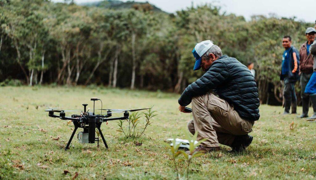 modular conservation quadcopter drone
