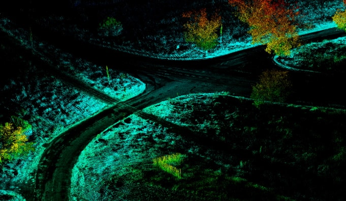 Drone LiDAR scan with OxTS INS