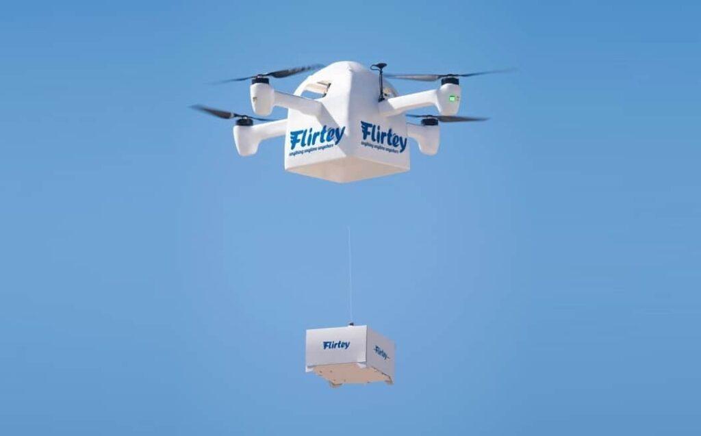Flirtey drone delivery mechanism