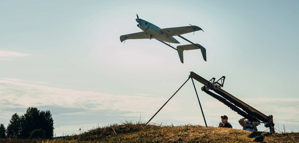 Long-range fixed-wing drone