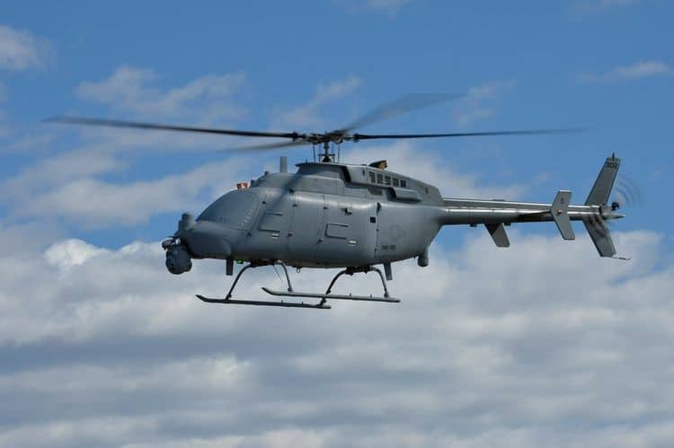 Fire Scout Unmanned Helicopter Equipped with Tracking Radar   Unmanned Systems Technology