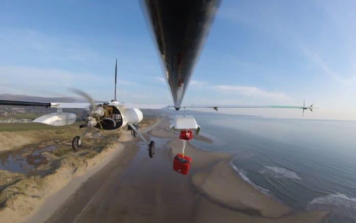 Penguin B UAV with defibrillator