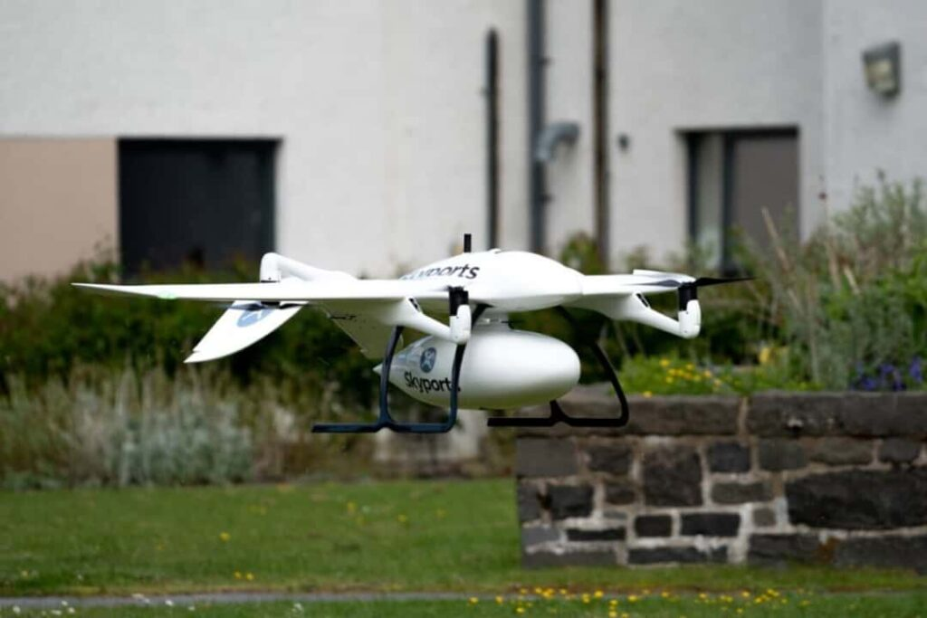 Wingcopter delivery drone