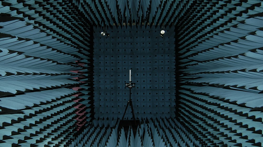 antenna in anechoic chamber