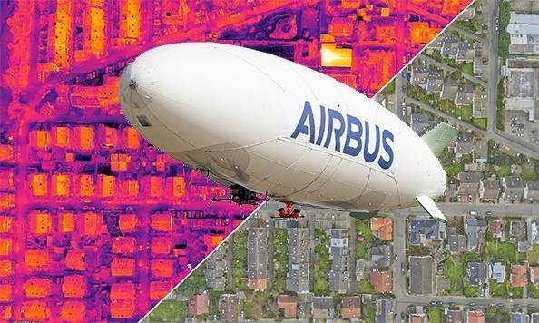 Airbus ALTAIR unmanned airship with Phase One cameras