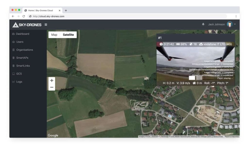Sky-Drones Cloud software