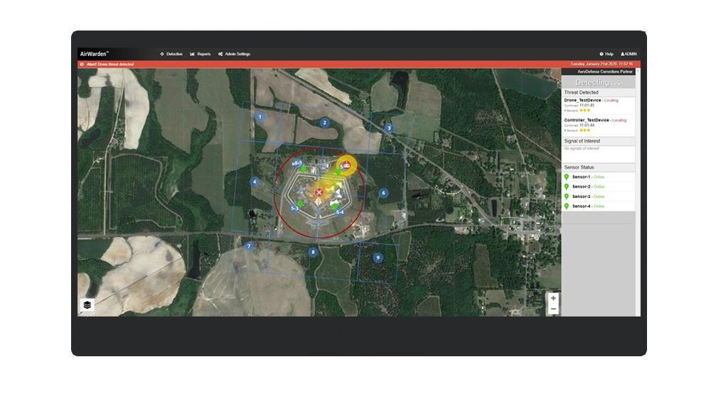 AeroDefense AirWarden drone detection system