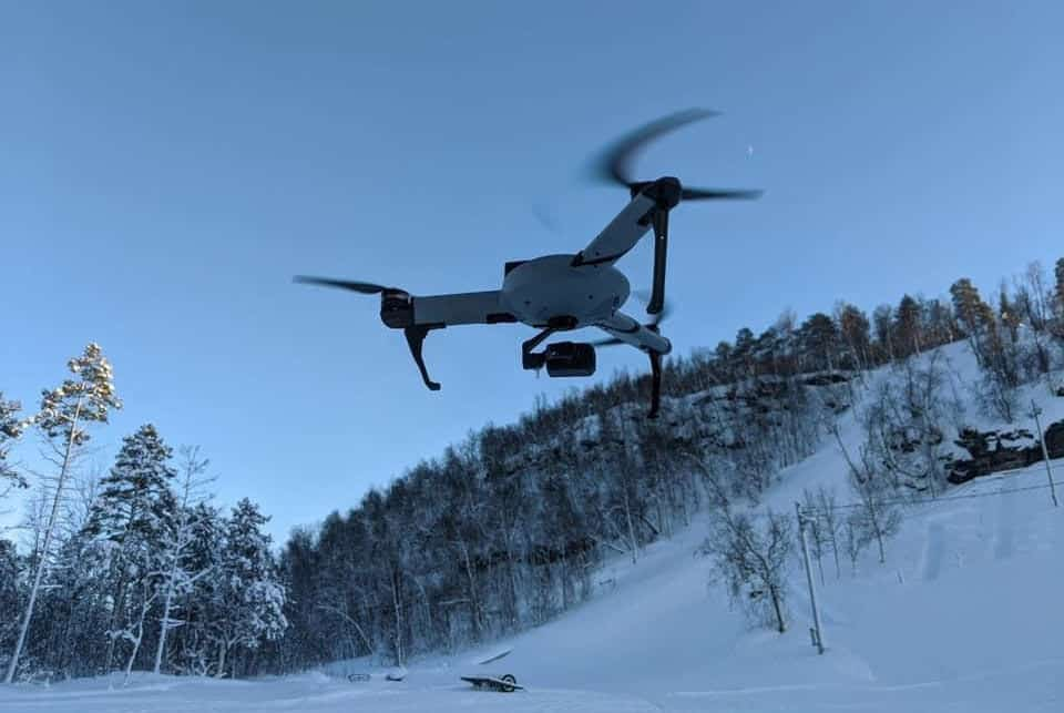 AtlasPRO drone in Arctic SAR Training