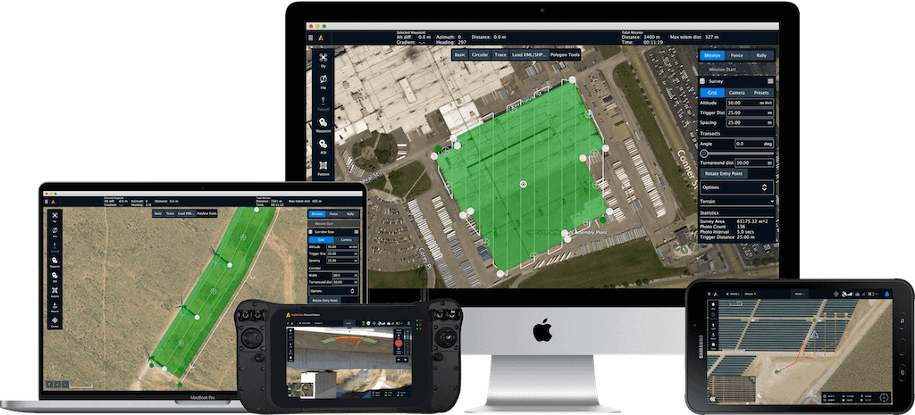 Drone flight control and planning software