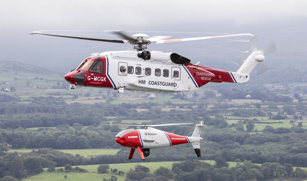 CAMCOPTER S-100 UAS with HM Coastguard
