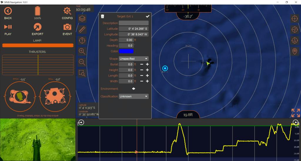 ROV Planning Recording Playback Software