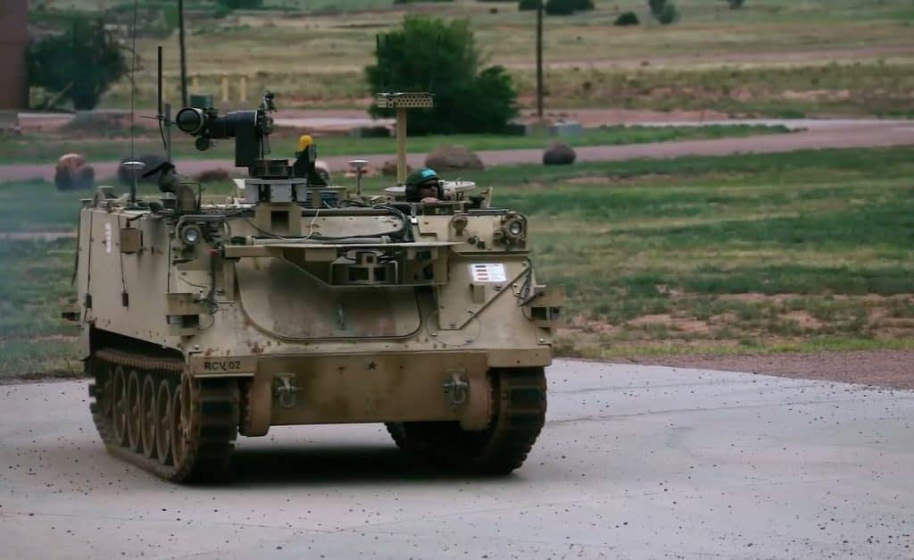 US Army Robotic Combat Vehicle prototype