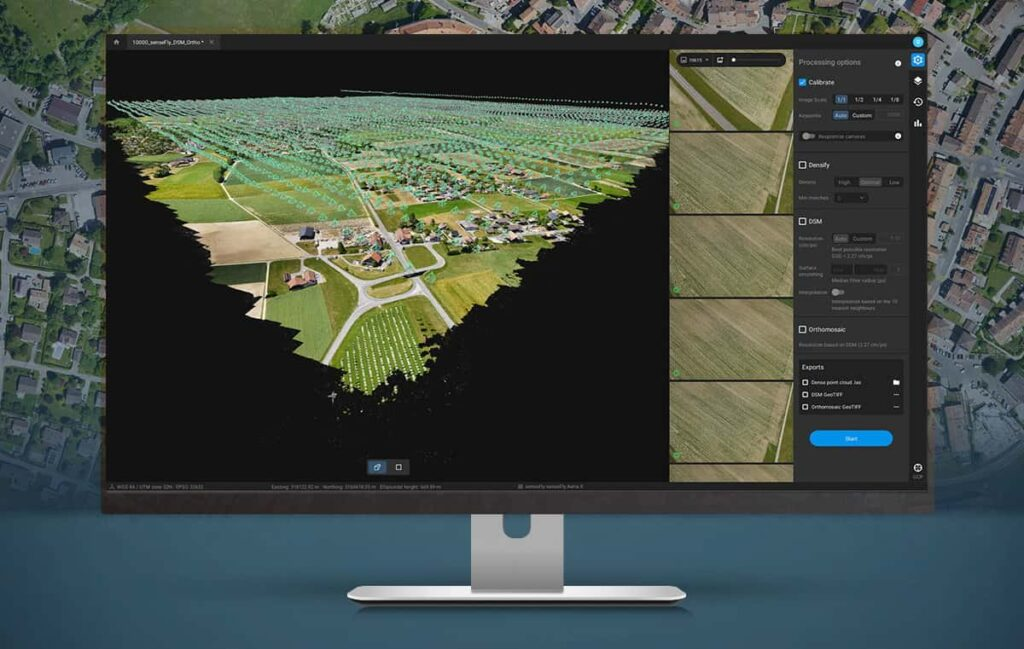 Pix4Dmatic drone mapping software
