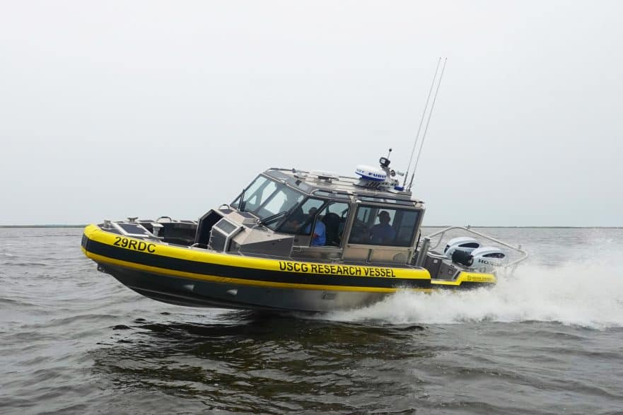 US Coast Guard autonomous research vessel
