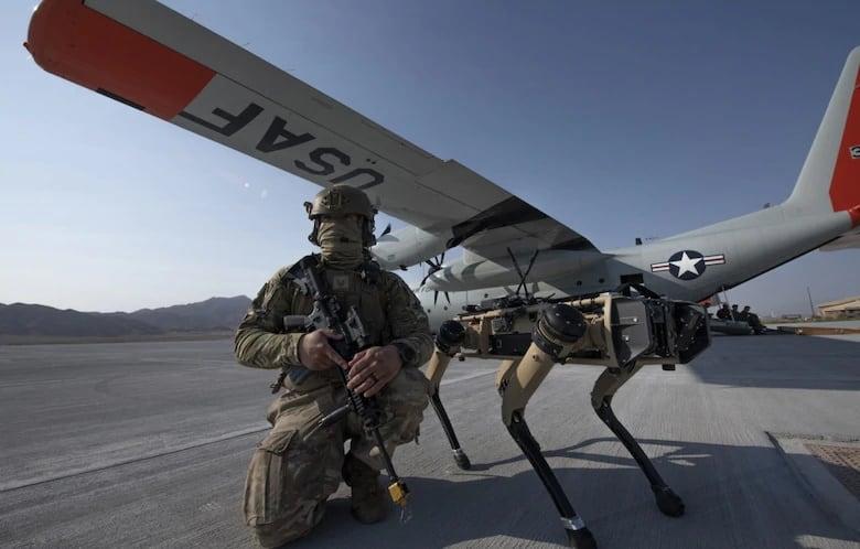 USAF Ghost Robotics V60 quadruped UGV