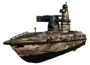 Armed USV for tactical maritime missions