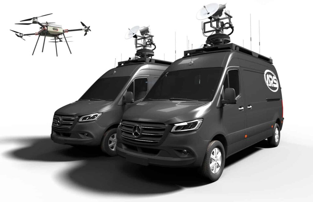 Mobile command vehicle for drones UAV