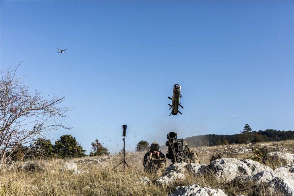 Drone missile target designation