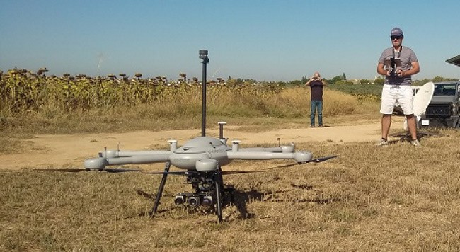Forest fire monitoring drone with FT205 wind sensor