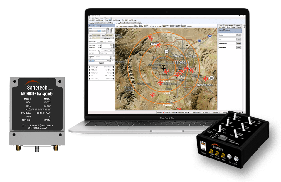 Sagetech MX12B certified IFF transponder with software
