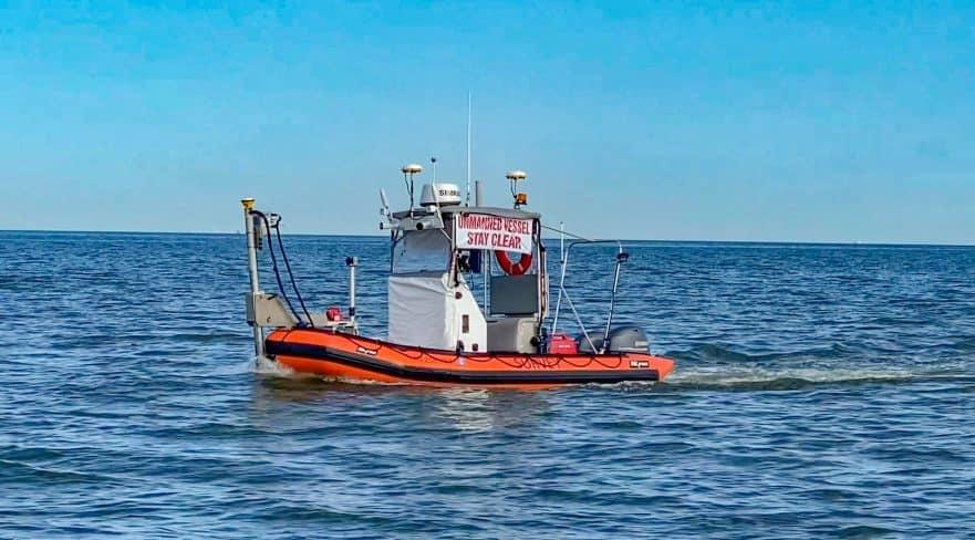 Survey USV with Sea Machines autonomy technology