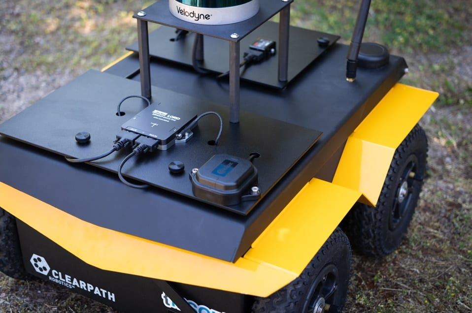 Parker Lord 3DMGQ7 GNSS-INS on UGV