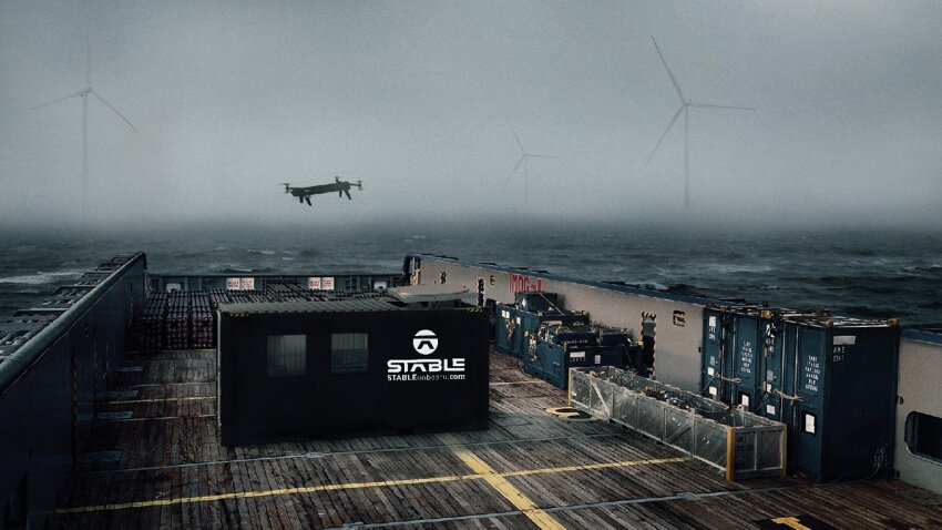 Stable Containerized Drone Landing Platform