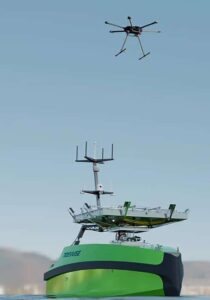 stabilized drone landing platform