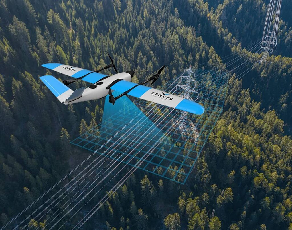 VTOL fixed wing drone for inspections