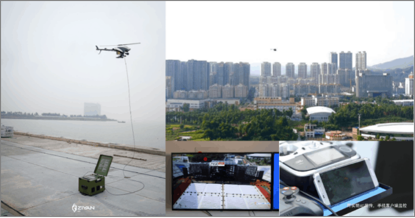 Large Scale Activity Tethered UAV Monitoring