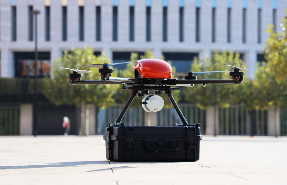 Mapping drone with Velodyne LiDAR