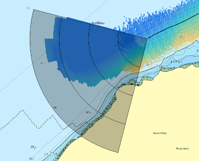 forward facing sonar over charts lhm